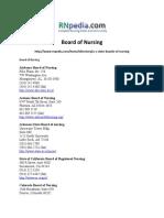 Board of Nursing