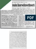 Realistic Club 1927 Dritter Internationaler Dauerwellenwettbewerb