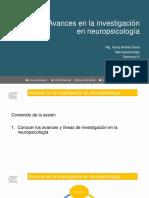 Clase 8. Avances en La Investigación en Neuropsicología