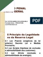 PRINCÍPIO DA LEGALIDADE OU DA RESERVA LEGAL