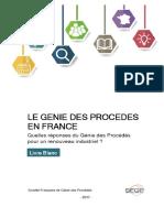 Livre Blanc Le Genie Des Procedes en France - 2017