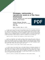 Estrategias matrimoniales y reproducción en el País Vasco