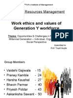 Work Ethics of generation Y