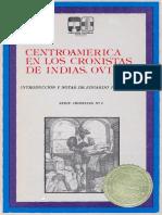 Centro América en Los Cronistas de Indias. Oviedo I, Gonzalo Fernández Oviedo y Valdez.