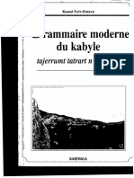 Kamal Nait-Zerrad. Grammaire Moderne Du Kabyle+1
