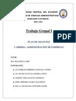 Primer Trabajo Grupal Plan de Negocios Grupo 9