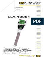 Chauvin Arnoux c.a. 10001 Waterproof Thermometer and Ph Tester User Manual