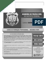 Cespe Cebraspe 2014 Pc Df Escrivao de Policia Curso de Formacao Prova