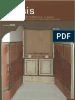 García, S. Rest. fragmentos mosaico termas de Bilbilis. 2009