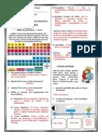VERIFICAÇÃO DA CONHECIMENTOS (CATEQUESE) Gabarito