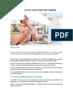 5 razões para ter uma internet rápida - minhaconexao.com.br