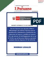 DECRETO SUPREO 014-2021-MIDAGRI delimitacion cabecera cuenca