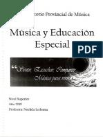 Cuadernillo de Musica y Educacion Especial 2021