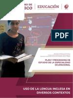 Plan y Programa de Estudios de La Especialidad Ocupacional