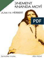 LEnseignement de Mâ Ananda Moyî (Spiritualités Vivantes) by Herbert Josette, Moyî Mâ-Ananda (Z-lib.org)