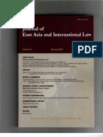 Journal EA & Inter Law May 2009 Bora