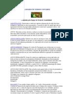 GLOSSÁRIO DE TERMOS CONTÁBEIS