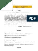 Cameroun 2017 BEPC Etude de Texte