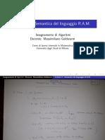 Lezione4_Algoritmi-Semantica Del Linguaggio RAM