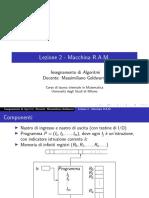 lezione2_Algoritmi-Macchina RAM