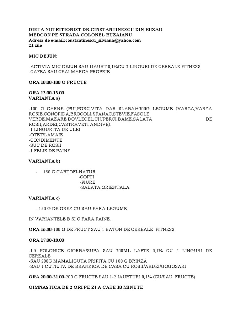 Proiect Tehnician Nutritionist - [PDF Document]
