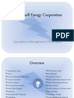 J.Mitchell Energy Corporation - Assignment One