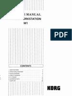 Korg M1 Service Manual