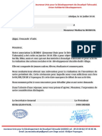COURRIERS DEMANDE D'AIDE JUDDO N°2