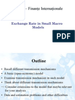Exchange Rate in Small Macro Models