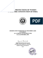 LEGAL PROTECTIONS OF WOMEN UNDER THE CONSTITUTION OF INDIA BY TEZOSWIE DOWARAH