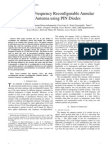 Pattern and Frequency Reconfigurable Annular Slot Antenna using PIN Diodes