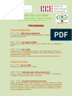 Semana da Leitura 2011 - Programa