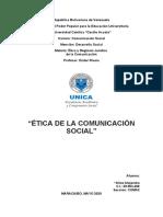 Ética de la comunicación Social