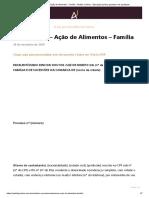 Contestação - Ação de Alimentos - Família - Âmbito Jurídico - Educação jurídica gratuita e de qualidade
