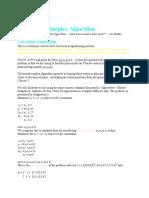 Primal Simplex Algorithm