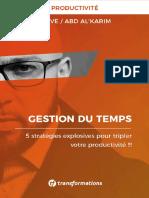 eBook - Gestion Du Temps