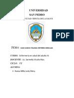 CASO CLINICO DE TRAUMA VERTEBRO MEDULAR