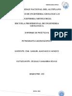 informe de practicas de petrografia