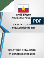 RDQA Saúde 1º QUADRIMESTRE DE 2021atualizadoppt