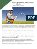 10 Coisas Que Precisamos Saber Sobre Energia Eólica - Revista Meio Ambiente Industrial e Sustentabilidade