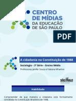 A cidadania na Constituição de 1988