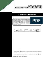 2006-2007 Manual AR 3000R