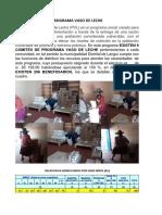 Programa Vaso de Leche Informe a Presupuesto