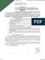 0.2. Plano de Curso - Fonética e Fonologia Do Espanhol Atual