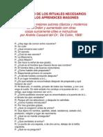 CATECISMO DE APRENDICES MASONES