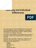 Learning and Individual Differences