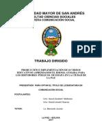 TRABAJO DIRIGIDO  2017 (COMUNICACIÓN SOCIAL)