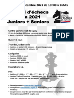 Signy 2021 Tournoi Juniors + Seniors samedi
