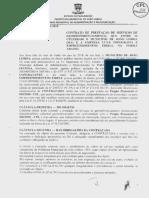 amostra de contrato para prestaçaõd e serviço