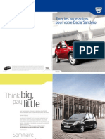 Dacia Sandero akcesoria Francja